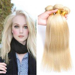 "Wholesale Cheap China Human Hair - Blonde #613 Malaysian Hair Straight 8""-30"" Cheap Unprocessed Human hair weft bundles made in china"