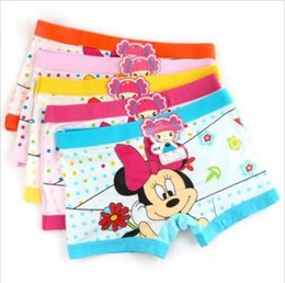 Wholesale Getting Cheaper - Free shipping Lot 10 pcs multicolor minnie Children cartoon girl cotton underwear Boxer shorts.The more you buy, the cheaper you get