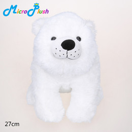 Wholesale Polar Stuff - 27cm White Polar Bear Stuffed Plush Animal Toy ON THE NIGHT YOU WERE BORN Soft Birthday Gift good kids toy