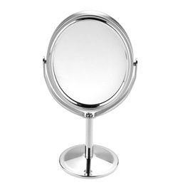 Wholesale Makeup Stands - Women Beauty MakeUp Mirror Dual Side Normal+Magnifying Oval Stand Compact Mirror Cosmetic Mirror Makeup Tools 3 inch