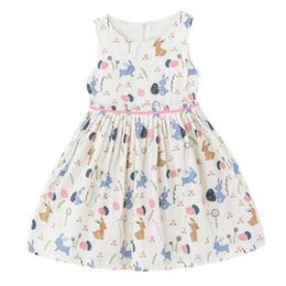 Wholesale Girls Beige Tutu Dress - 2017 Summer New Girl Dress European American Style Cotton Floral Cotton Sundress Children Clothing 1-16Y H1702