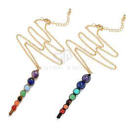 Wholesale Shamballa Necklace Pendants Chains - Free Chains Chakra Pendants 6mm 8mm 10mm Round Ball Necklace Shamballa Pendant Chakra Jewelry Pendants Free Shipping