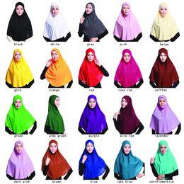 fester roter schal chiffon Rabatt 20 verschiedene Farben Oversize Plain Foulard malaysischen Schal Schal muslimischen Hijab Schal Frau wunderschönen islamischen Schal