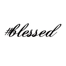 Wholesale Vinyl Words - Blessed Sticker Funny Race Jesus Church Personality Car Styling Jdm Stance Drift Vinyl Decal Car Window Decor