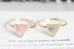 Wholesale 14k Gold Stacking Rings - Tiny Triangle Ring Stacking Geometric Knuckle Rings Marriage Alliance Couple Gifts Promise Forever Anillos Mujer jl-389