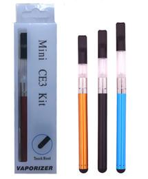 E cigarros slims on-line-Mini CE3 BUD Toque Blister Kits CE3 Cartuchos Vape Pen 280 mah Bud Touch Slim Bateria O Caneta E Cigarro Blister Kits