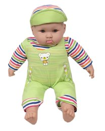 Wholesale Baby Push Toys New - New lovely cute fashion comfortable play baby doll toy blue yellow green washable