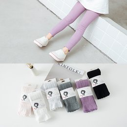 Wholesale Girls Socks Years Old - Spring Autumn Kids Children Toddler Popular Solid color Socks Baby Girls Princess Candy color Cotton Ankle length Leggings 1-8 years old