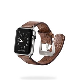 Wholesale Metal Strap Wrist Watch - Band 38mm 42mm Strap For iWatch Premium Vintage Genuine Leather Replacement Watchband with Secure Metal Clasp Buckle for Apple Watch Sport