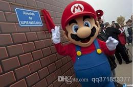 Wholesale Green Adult Mascot Costume - Large luxury l super Mario bros. mascot costume adult beautiful evening dress, free shipping