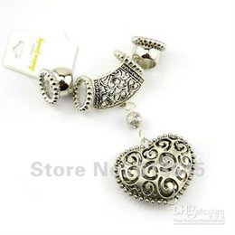 Wholesale Ccb Diy - 12SETS LOT, Fashion DIY Jewellery Necklace Alloy Heart Pendants Scarf Accessories Set Charm CCB Bead