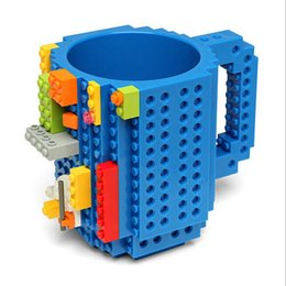Wholesale Mugs For Kids - Hot Block Mugs 12oz DIY Coffee Cups ECO Friendly Drinkware 1Piece Build-On Brick Creative Mugs Funny Toys Best Gifts for Kids