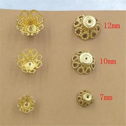 BOYUTE 200 Pcs 7 MM 10 MM 12 MM 3 Taille Vente Chaude Fleur Perles Caps En Laiton Matériel DIY Bijoux Conclusions ? partir de fabricateur
