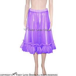 22e8d0e1d647 sexy bottom skirts Canada - Transparent Purple Sexy Fetish Latex Skirts  Fetish Rubber Skirt Short Hot