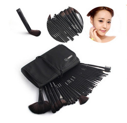 Wholesale Hair Drop Shipping - VANDER 32Pcs Professional Makeup Brushes Eyebrow Shadows Make Up Cosmetic Brush Set Kit Tool + Roll Up Case Free Drop Ship