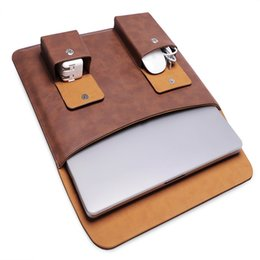 Wholesale Pu Leather Notebook Cover - PU Leather Laptop Sleeve Bag Protective Notebook Case Computer Cover for Macbook Pro 13 15 inch