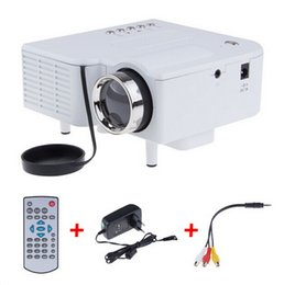 Wholesale Video Game Speakers - Wholesale-UC28 Mini LED Digital Video Game Projectors Multimedia player Inputs AV VGA USB SD HDMI proyector Built-in Speaker