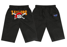 Wholesale Gang Style - RU4466873V Free shipping 2017 New Pink dolphin TAYLOR GANG boys Casual fashion short Mens Elastic waist pants colorful letter style
