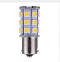 Wholesale Blue 1157 - 100X 1156 1157 13SMD 18SMD 27SMD 5050 Car LED Light Bulbs Interior for RV Camper Tail Light Turn Signal Light Backup