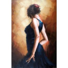 flamenco danseuse peintures à l'huile Promotion Superbes peintures à l'huile femme Danseuse de flamenco espagnole huile sur toile de haute qualité