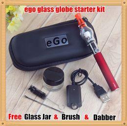 Wholesale Plastic Attachments - Super E Cigarettes Dry Herb Wax Vaporizer attachment Glass Pyrex Glass eGo t Battery Ego starter kits EGO Dab vape pens case kit