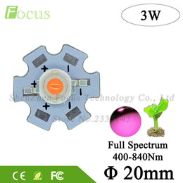Wholesale Quality Spectrum - High Quality 3W Full Spectrum 400nm-840nm Plant Grow Light PCB LED Broad 45mil Light Source With 20MM Base For 3 Watt Light Bead