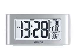 Wholesale Alarm Key Set - Explosive models black white spot a key set snooze function alarm clock bell white backlight hot
