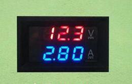 Wholesale Dc Digital Panel Voltmeter Ammeter - DC 0-100V 10A Digital Voltmeter Ammeter Dual Display Voltage Detector Current Meter Panel Amp Volt Gauge 0.28