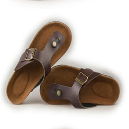 Wholesale Strap For Couples - Wholesale-Summer slippers for men and women, 2016 new cork bottom flip-flops, sandals with a couple flip flops men
