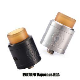 Wholesale Two Hole Atomizer - 100% Orignal WOTOFO Vaporous RDA Tank 24mm Diameter Two Post 4 Holes Design Atomizer For 510 Thread Box Mod