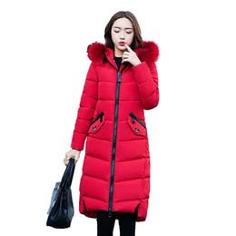 Wholesale Winter Jacket Fur Wadded - Winter Jacket Women Large Fur Collar Down Wadded Jacket Female Cotton-Padded Jackets Thickening Women Winter Coat