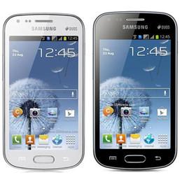 Wholesale Original Galaxy S Duos S7562 - Refurbished Original Samsung Galaxy S Duos S7562 Dual SIM 4.0 inch 4GB ROM 5.0MP Camera 3G WIFI Bluetooth GPS Unlocked Mobile Phone Post 1pc