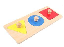 Wholesale Shapes Wood Educational Toys - Wholesale- Montessori Kids Toy Baby Wood Learning Shape Panels Learning Educational Preschool Training Brinquedos Juguets