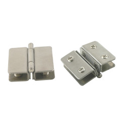 Wholesale Wholesale Door Hinge - 2pcs Shower Showcase Cabinet Glass Door Clip Clamp Hinges Fit For 5-10mm Glass Thickness Without Dringing Hole To Install