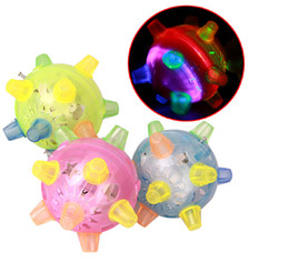 Wholesale Dancing Pet Toys - Wholesale- 1 PC Baby Child Kids Pet Novelty Singing Dancing Bouncing Ball Colorful Electric Toy W110