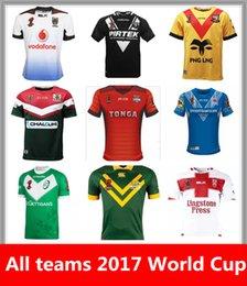 Wholesale Australia Army - All teams 2017 World Cup Jersey England rugby shirt kiwi tonga rugby Jerseys samoa kiwis Australia PNG fiji Papua New Guinea shirts