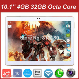 Wholesale Tablet Dual Os - Wholesale- 2016 Newest 10 inch 3G 4G Lte Tablet PC Octa Core 4GB RAM 32GB ROM Dual SIM Cards Android 5.1 GPS Tablet PC 10 10.1 +Gifts