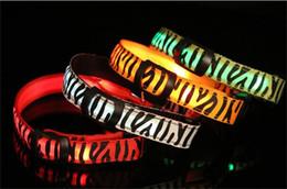 Wholesale Cat Training Collars - Zebra Pet Dog LED Collar Glow Cat Collars Flashing Nylon Neck Light Up Training Collar for Dogs DHL FEDEX FREE