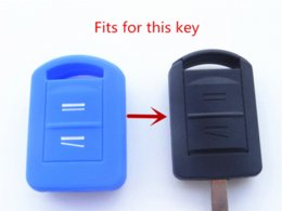 Wholesale Auto Remotes Shells - Silicone car Key Cover fits for Opel Vauxhall Corsa C Meriva Agila Protector key Remote Shell Fob Car accessories auto parts