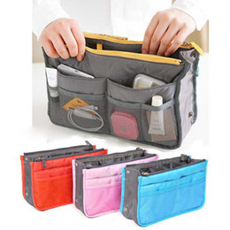 Wholesale Handbag Pouch Insert - Universal Tidy Bag Cosmetic bag Pouch Tote Sundry Bag Organizer Travel Makeup Insert Handbag with OPP Package OTH342