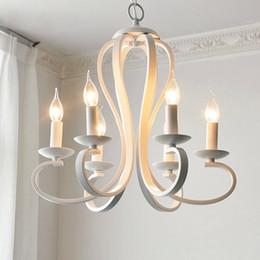 Wholesale Led Color Flush Mount - Simple elegant northern american country style modern metal pendant lamp chandelier black white color for dinning room living bedroom decor