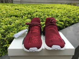 Wholesale Family Fabrics - Pharrell NMD Burgundy Friends Family Sneaker,NMD Human Race Fashion Running Shoes, Hot Selling Ultra Boost,Human Species Shoe With Box