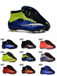 Wholesale Boot Socks Boys - Newairl kids soccer shoes for boys mercurial superfly fg cr7 sock boots football womens mens high tops ronaldo ankle indoor soccer cleats