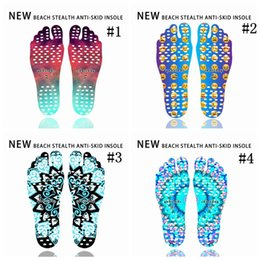 Wholesale Smile Stick - Wholesale Beach Invisible Anti Slip Insoles Starry Emoji Smile Mandala Nakefit Thermal Insulation Waterproof Soles Stick On Feet Pads Socks