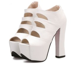 Wholesale Princess White High Heels - Spring Summer Thick High Heels Sandals Fashion Women Fish Mouth High-heeled Shoes Korean Princess Waterproof Platform Roman Shoes 34-39