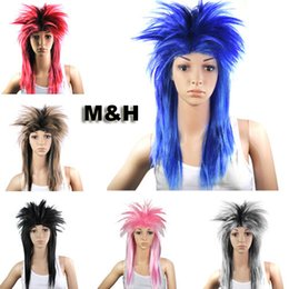 Wholesale Rocker Costume - Ladies Glam Punk Rock Rocker Chick Tina Turner Wig Fancy Dress Party Costume Length is approximately 55cm Trend unique lead fashion