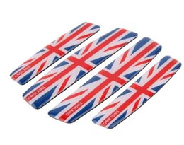 Wholesale Uk Flag Sticker - High Quality Car Styling England Flag Car Door Protective Sticker for Union Jack UK flag [Color, Grey two color]