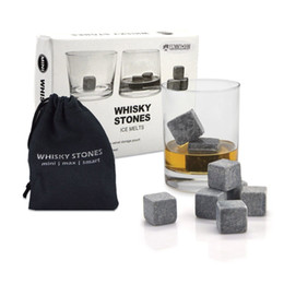 Wholesale Whiskey Rock Box - Whiskey Stones, Yummy Sam Reusable Ice Stone Chilling Rocks Cubes in Gift Box with Carrying Pouch, Set of 9 for Whiskey, Bourbon, Wine or Ot
