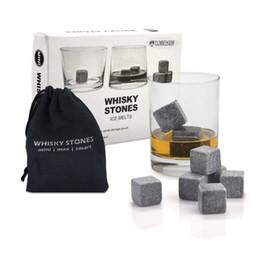 Whisky Stones, Yummy Sam Piedra de hielo reutilizable Chilling Rocks Cubos en caja de regalo con bolsa, Set de 9 para Whisky, Bourbon, Wine u Ot desde fabricantes