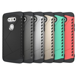Wholesale Armor Shield - Slim Durable Armor Defender bag Rugged Silicone TPU Shield Case Heavy Duty Hybrid Anti-knock Cover For LG G5 H830 H840 H850